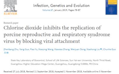 Medical Study: Chlorine Dioxide is effective against the Porcine Virus (swine Flu)